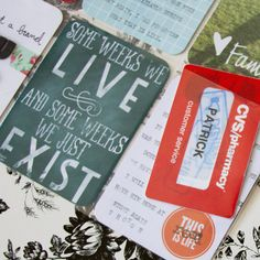 """""""Some Weeks We Live and Some Weeks We just Exist"""" FREE 3x4 Project Life Card from Traci Reed Designs"""