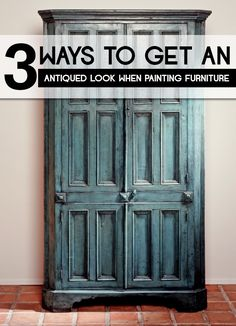 The best DIY projects & DIY ideas and tutorials: sewing, paper craft, DIY. DIY Furniture Plans & Tutorials : 3 Ways to Get an Antiqued Look When Painting Furniture -Read Refurbished Furniture, Paint Furniture, Repurposed Furniture, Furniture Projects, Furniture Makeover, Antique Furniture, Modern Furniture, Furniture Design, Glazing Furniture