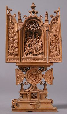 Triptych Date: 1500–1525 Made in, South Lowlands Culture: South Netherlandish Medium: Boxwood