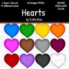 Hearts Clip Art FREE