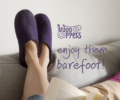 enjoy wooppers barefoot! wooppers-felted woollen slippers