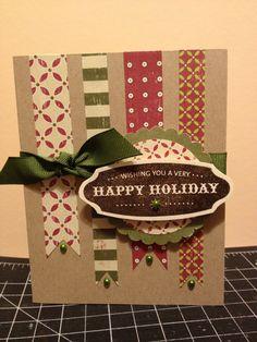 wishing you a Happy Holidays homemade christmas card