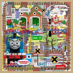 Thomas and Friends Digital Scrapbook Kit ($1.80)