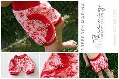 Freebook Marina - kurze Pumphose für Kinder