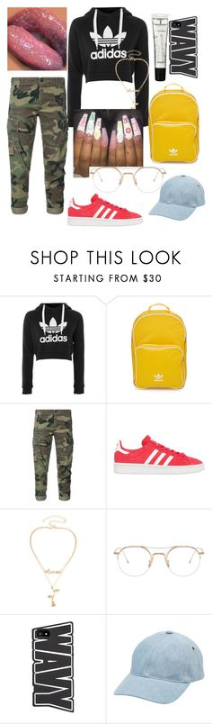 """Your bishhhh"" by ksimonebutler ❤ liked on Polyvore featuring adidas, M.A.C, adidas Originals, RE/DONE, Thom Browne and A.P.C."