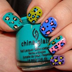 spotted nails spring colors CLICK.TO.SEE.MORE.eldressico.com