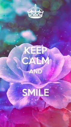 Smiling. Happy