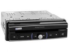 """DVD Automotivo Pósitron SP6320 BT Tela LCD 7"""" - Retrátil Touch Bluetooth 180 Watts RMS Entrada USB com as melhores condições você encontra no Magazine Docelarvidafeliz. Confira!"""