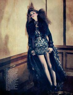 Samantha Gradoville in Burberry and Ralph Lauren by Sebastian Kim for Numéro #118 November 2010