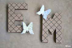 Butterfly Burlap Letters DIY Project - Burlap Projects