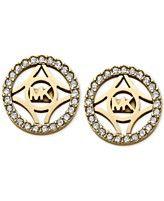 Michael Kors Gold-Tone Clear Open Stud Earrings