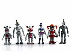 """New Five Nights at Freddy's FNAF Generic Action Figures Toys Dolls (6 Piece), 4"""". Size: Approx4"""" to 5"""" high (Size varies between characters). Condition: 100% brand new (US STOCK). Material: PVC (6 pieces). Package: packed in OPP plastic bag. Movable hands."""