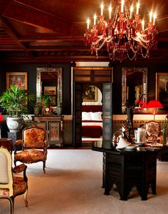 La Mamounia, Morocco Ravishing and regal, La Mamounia hotel is set in royal gardens, styled with a medley of art deco and Moorish opulence, and as sensuous as a seraglio. Moroccan Design, Moroccan Decor, Moroccan Style, Moroccan Bedroom, Moroccan Lanterns, Mamounia Marrakech, Marrakech Morocco, Style Marocain, Art Nouveau