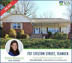 Looking for a house? Contact us for more listings! Esther Shayowitz - V & N Realty - 201-638-5858 or visit us online at http://ift.tt/233t0V6 #teaneck #bergenfield #newmilford #realestate #veranechamarealty #njrealestate #realtor #homesforsale More Listings. More Experience. More Sales. - http://ift.tt/1QGcNEj