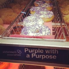 Purple with a Purpose at Dunkin Donuts. dunkin donut