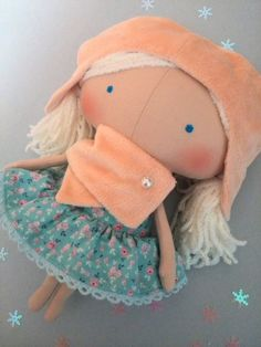 Rag doll Baby gifts Cloth doll Children Girl by HandmadeToyStore