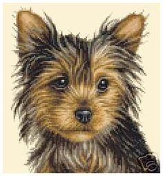 Yorkshire Terrier Dog Full Counted Cross Stitch Kit | eBay