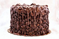 Here's a tip: When you can't fit all the chocolate kisses into your mouth, throw them all over cake.