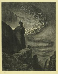 From Dante's Divine Comedy - Gustave Doré's engraving for Canto 5 of the Inferno