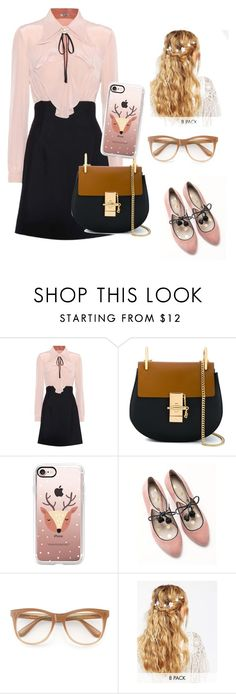 """""""The good girl"""" by mysterystylist17 ❤ liked on Polyvore featuring Miu Miu, Chloé, Casetify, Boden, Wildfox and ASOS"""