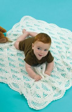 Crochet instructions Special Baby Blanket thread crochet perfect for christening day