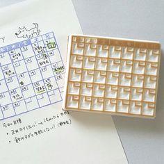 はんこ 月間カレンダー | ハンドメイドマーケット minne