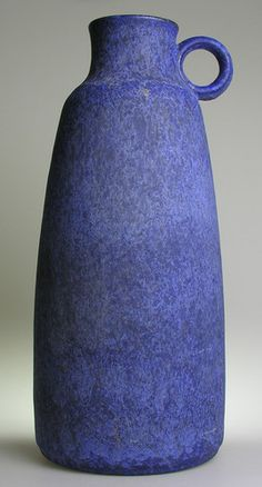 West German Pottery Ceramic shades of blues smooth glazing, numbered to the base 224 and signed Capri a Ceramano Hans Welling design.