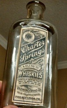 CHARTER SPRINGS WHISKEY BOTTLE