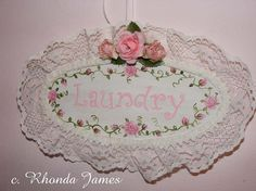 Cottage Chic Wood Shabby Painting Laundry Room Sign