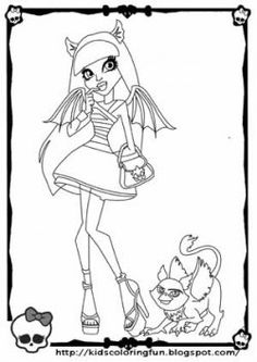 monster high coloring pages | kids projects | pinterest | coloring ... - Girls Coloring Pages Monster High