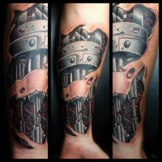 11 Best Robotic Arm Tattoo Images On Pinterest Biomechanical