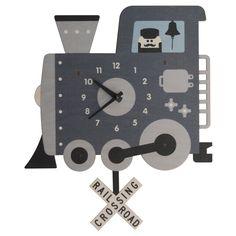 Modern Moose Train Pendulum Clock