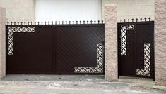 Home Gate Design, House Main Gates Design, Front Gate Design, Door Design, Gate Designs Modern, Modern House Design, Front Gates, Entrance Gates, Metal Screen Doors