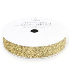 5/8In Glitter Gold, , hi-res
