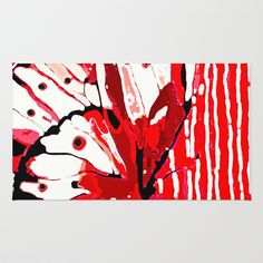 Red Butterfly Area & Throw Rug by Saundra Myles - $28.00