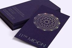 30 Ultra-Creative Business Cards for a Killer First Impression – Keeping in mind the clothing boutique's celestial name and the owners' love of astronomy, RoAndCo devised these wallet-sized wonders for 11th Moon. Printed on thick purple stock, the foil-stamping technique gives them an iridescent look
