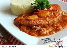Vepřová kýta po uhersku recept - TopRecepty.cz Pork Leg, Thai Red Curry, Stew, Food And Drink, Treats, Homemade, Chicken, Breakfast, Ethnic Recipes