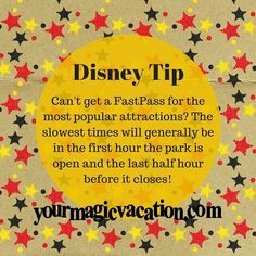 #DisneyTip best time is usually evenings