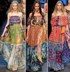 Stunning fabrics  I want gypsy dress!
