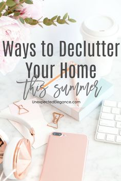 Are you overwhelmed with the amount of clutter in your home? There are a few ways to declutter your home and create a less-stressed environment! Declutter Your Home, Organize Your Life, Organizing Your Home, Organizing Ideas, Cool Diy Projects, Home Projects, Project Ideas, Funky Home Decor, Diy Home Decor