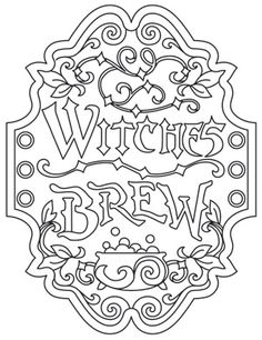 Witches Brew Apothecary Label | Urban Threads: Unique and Awesome Embroidery Designs