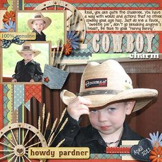 Layout: Cowboy Charm    AMY I love this!! VB