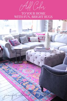 diy projects Adding colorful rugs can make such a huge difference in any room of the house! Check out my favorite… PAK Diy Home Decor Bedroom, Diy Home Decor On A Budget, Affordable Home Decor, Room Decor, Diy Projects Living Room, Diy House Projects, Design Projects, Small House Decorating, Decorating Tips