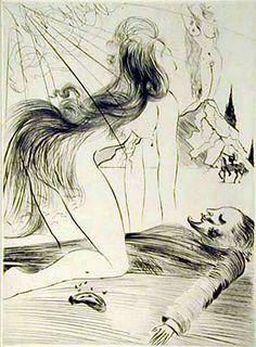 Salvador Dali, La Femme a Genou