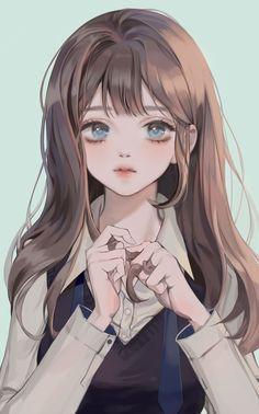 Pretty Anime Girl, Beautiful Anime Girl, Kawaii Anime Girl, Anime Art Girl, Anime Girls, Chica Anime Manga, Manga Girl, Pretty Art, Cute Art