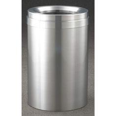 GLARO 41 gal. Round Gray Waste Receptacle - Indoor Trash Cans - 34AX07|F2037-SA-SA - Grainger Industrial Supply