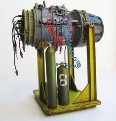 MaK Falke engine scratchbuilding from a Yakult bottle