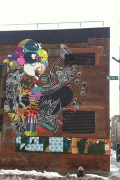 #StreetArt of #Williamsburg, Brooklyn, NYC Painted on a reassigned manufactory's wall in the hood of the artists