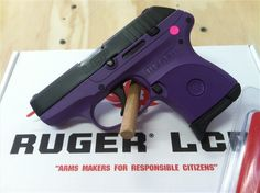 Ruger Purple LCP 380 Lady Lilac Royal Rugerr Be sure to check this out. Pistol For Women, Purple Gun, Tactical Gear, Tactical Clothing, Military Guns, Guns And Ammo, Self Defense, Girls Be Like, Firearms