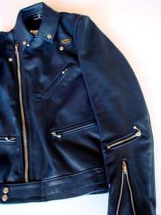 Lewis Leathers Navy Cyclone 441T
